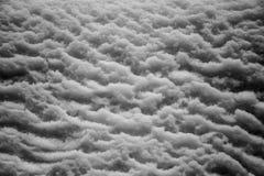 Sollievo bagnato della neve Fotografia Stock