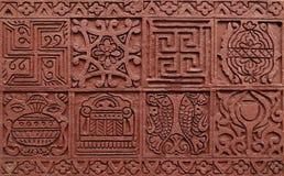 Sollievo basso in tempio Jain, Calcutta Immagine Stock