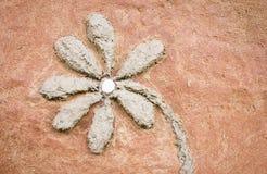 Sollievo del fiore sulla parete Fotografia Stock Libera da Diritti