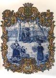 Sollievo del mosaico al mercato dei lavoratori in Fuchal immagine stock