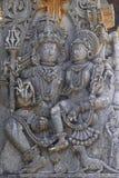 Sollievo del pannello di parete di Halebidu Immagini Stock