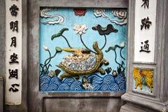 Sollievo della tartaruga a Hanoi Immagine Stock Libera da Diritti