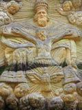 Sollievo della trinità santa - l'altare di pietra ha scolpito in arenaria cli Fotografia Stock Libera da Diritti