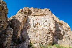 Sollievo di Ardashir I in necropoli antica Naqsh-e Rustam nella provincia di Fars, Iran immagine stock libera da diritti