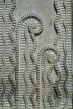 Sollievo di Art Deco Plant Pattern Stone Fotografia Stock Libera da Diritti
