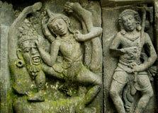 Sollievo di storia di Ramayana sul tempio di Prambana Fotografia Stock