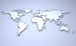 Sollievo di una mappa di mondo Fotografia Stock Libera da Diritti