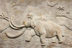 Sollievo mastodontico Fotografie Stock Libere da Diritti