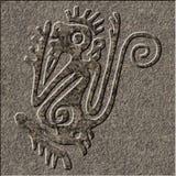 Sollievo maya cesellato in granito fotografia stock