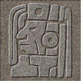 Sollievo maya cesellato in granito fotografie stock libere da diritti