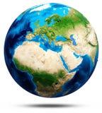 Sollievo reale del globo del mondo, mappe modificate illustrazione vettoriale