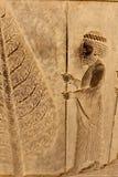 Sollievo simbolico su una parete della città antica di Persepolis Fotografie Stock Libere da Diritti