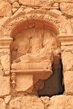 Sollievo su una tomba in Palmira antico fotografia stock