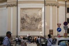 Sollievo sulla st Peters Church a Vienna Fotografia Stock