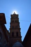 Solljus över torn Royaltyfri Foto