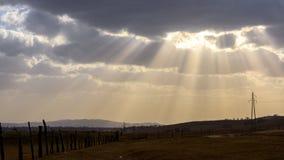 solljus Arkivbild