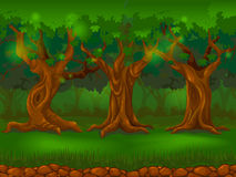 solljus för oak för skog för design för kant för ekollonhöstbakgrund stock illustrationer