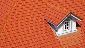 Solljus för taktegelplattor och himmel arkivfoto