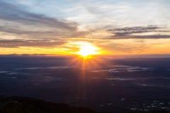 Solljus och himmel Royaltyfri Foto