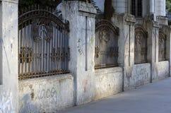 Solljus på staket Royaltyfri Fotografi