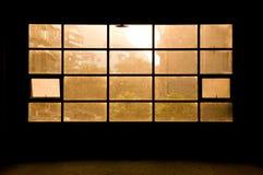 solljusfönster Arkivfoton