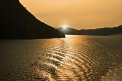 solljusvatten Royaltyfri Fotografi