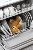 Sollte sich nie in die Spülmaschine setzen Stockfotos