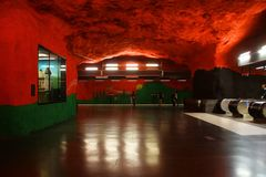 Solna centrum Station of the Subway in Stockholm. Sweden royalty free stock image