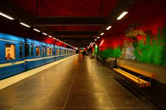 Solna centrum Station of the Subway in Stockholm. Sweden royalty free stock photo