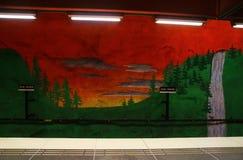 Solna centrum Station of the Subway in Stockholm. Sweden stock images