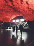 Solna-Zentrum tunnelbanestation Untertage Station der U-Bahn Stockholm, Schweden Lizenzfreies Stockfoto