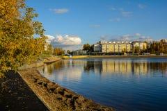 Angara River in Irkutsk. Royalty Free Stock Photo