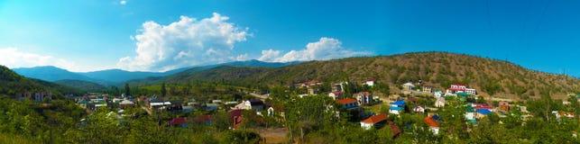 Solnechnogorsk-Panorama vom Berg Stockbilder