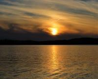 Solnedgång över ön Royale Royaltyfria Bilder