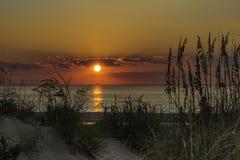 Solnedgång över Royaltyfri Fotografi