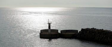 Solnedgång över Balticsea.JHen Royaltyfria Bilder