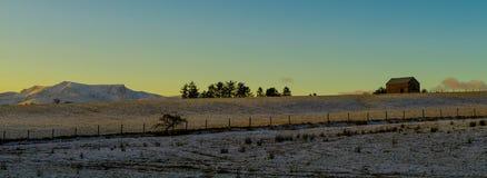 Solnedgång över Blencathra Royaltyfri Fotografi