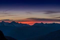 Solnedgång över Camas Ridge Arkivfoton