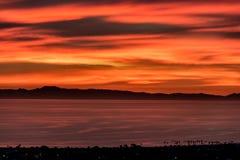 Solnedgång över Catalina Royaltyfri Bild