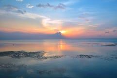 Solnedgång över Copono Royaltyfria Foton