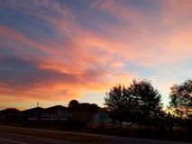 Solnedgång över Cristobal Arkivfoton