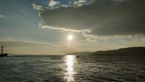 Solnedgång över Dardanellesna royaltyfri foto