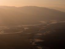 Solnedgång över Death Valley Fotografering för Bildbyråer