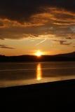 Solnedgång över den Ardmucknish fjärden Royaltyfri Foto