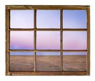 Solnedgång över den Colorado prärien Arkivfoto