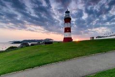 Solnedgång över den Plymouth hackan Fotografering för Bildbyråer