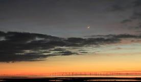 Solnedgång över det irländska havet Royaltyfria Bilder