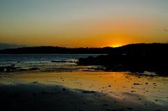 Solnedgång över det solway Royaltyfri Foto