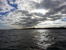 Solnedgång över Fiji Arkivfoton