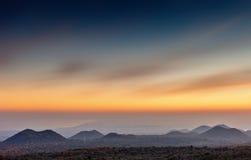 Solnedgång över golfen Fotografering för Bildbyråer